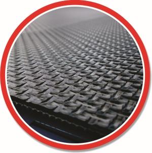 Banda transportoare - PVC - Negru - profilata