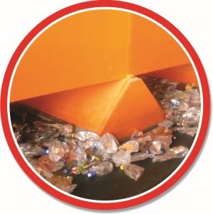 Banda transportoare deseuri PVC - linie sortare