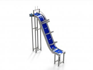 Conveior cu banda modulara - Otel Inox - Elevator