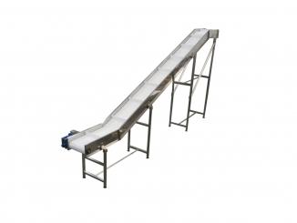 Conveior frant cu banda modulara - Structura otel inox