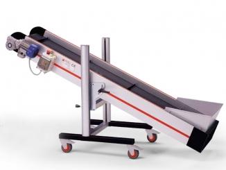 Conveior inclinat - Structura aluminiu - Banda PVC cu ...