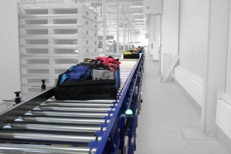 Linie transport colete - conveioare tip lineshaft